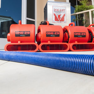 Water Removal using specialized equipment